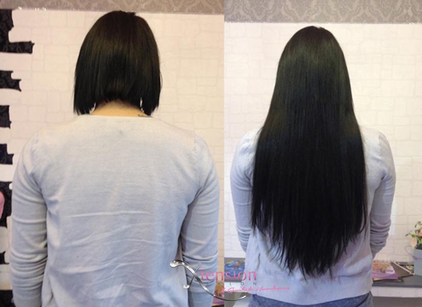 Haarverlangerung vorher nachher schwarz